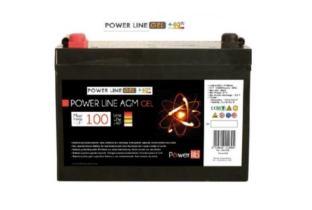 BATERIA DE GEL 100A. POWERLINE